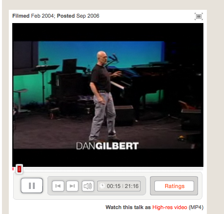 Dan Gilbert Ted Talk